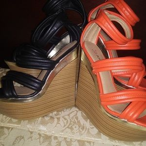 Brand New Never Worn Size 8 JustFab Wedges